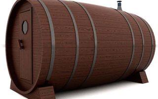 Баня-бочка: плюсы и недостатки вида, материал для строительства