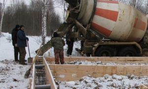 Строительство и заливка фундамента зимой — плюсы и минусы работ