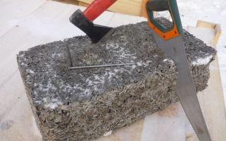 Арболитовые блоки, их плюсы и минусы, технология производства