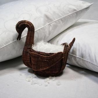 Подушки из лебяжьего пуха, их плюсы и минусы