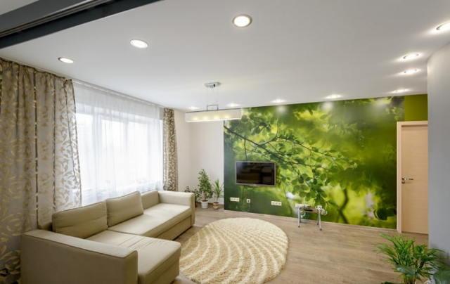 Тканевые натяжные потолки – плюсы и минусы