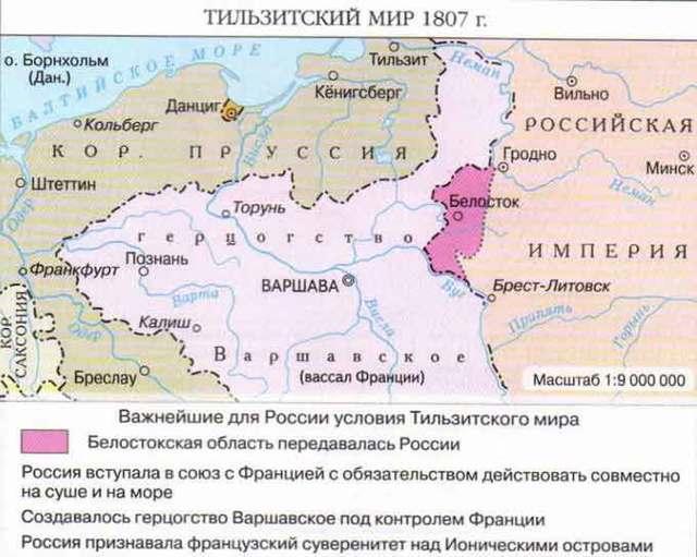 Тильзитский мир — плюсы и минусы для России