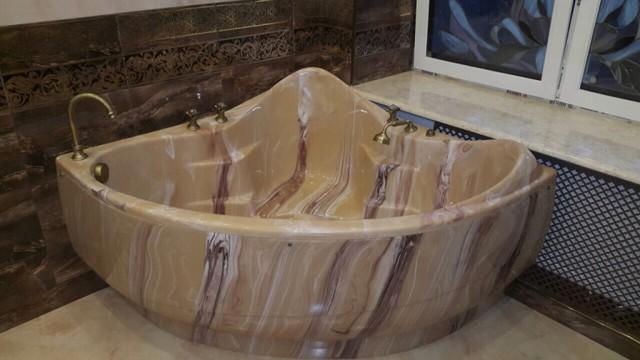 Ванны из литого мрамора — основные плюсы и минусы