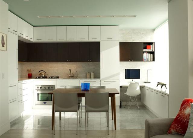 Кухня в потолок: плюсы и недостатки